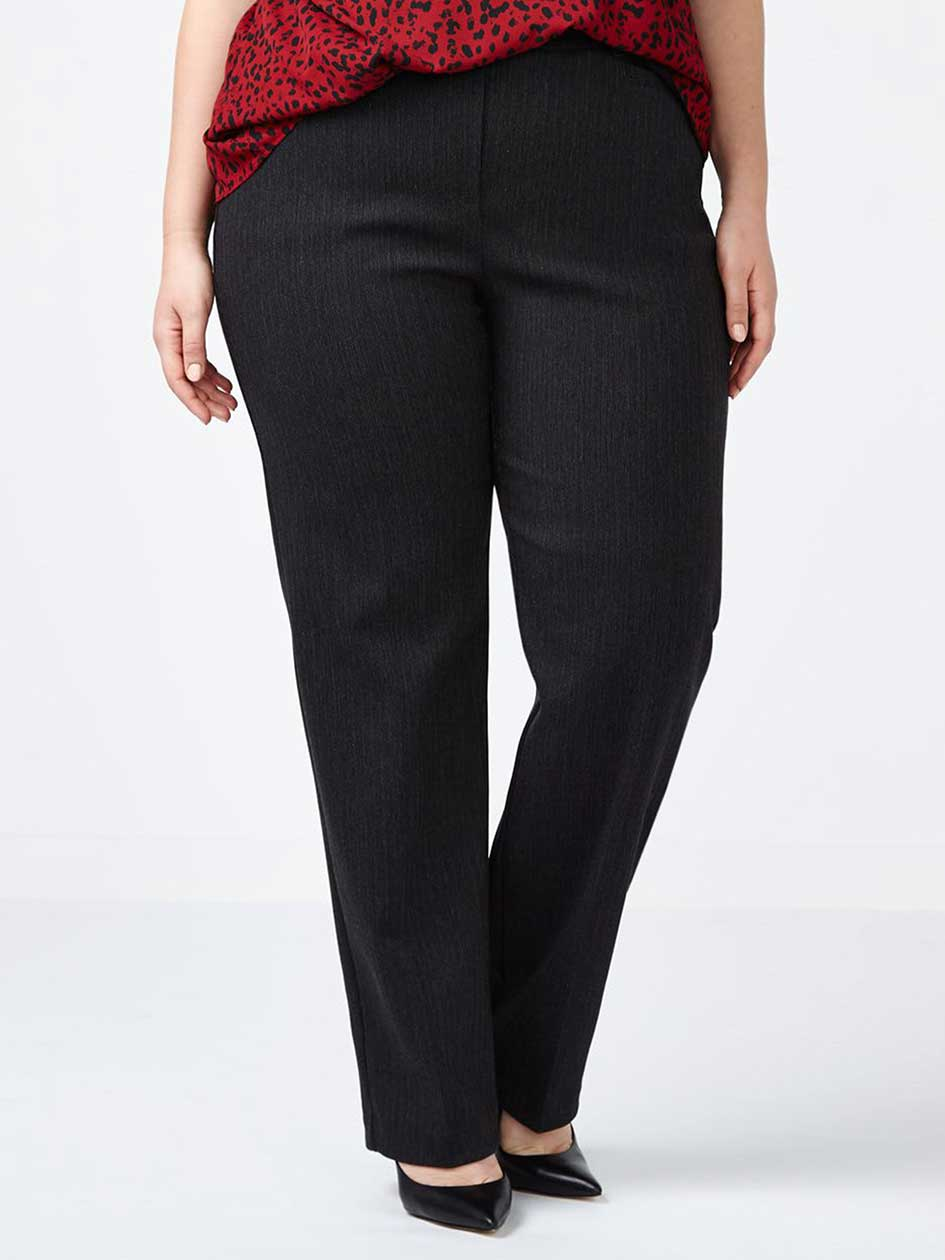 Savvy Straight Leg Striped Twill Pant