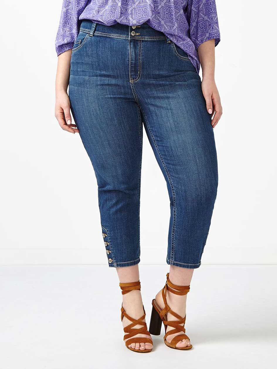 d/c JEANS Curvy Fit Straight Leg Denim Capri