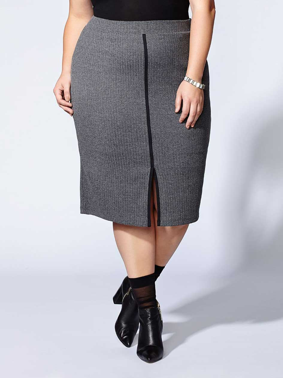 Tess Holliday - Ribbed Midi Skirt