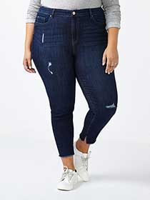 d/c JEANS Slightly Curvy Fit Skinny Distressed Jean