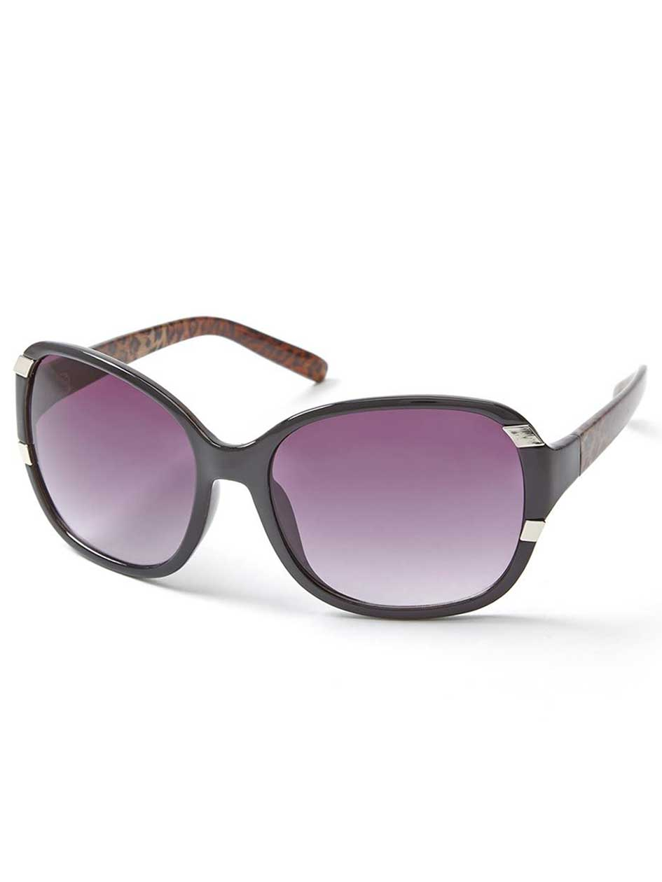 Plastic Sunglasses with Animal Print