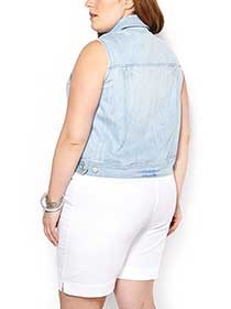d/c JEANS Sleeveless Denim Vest