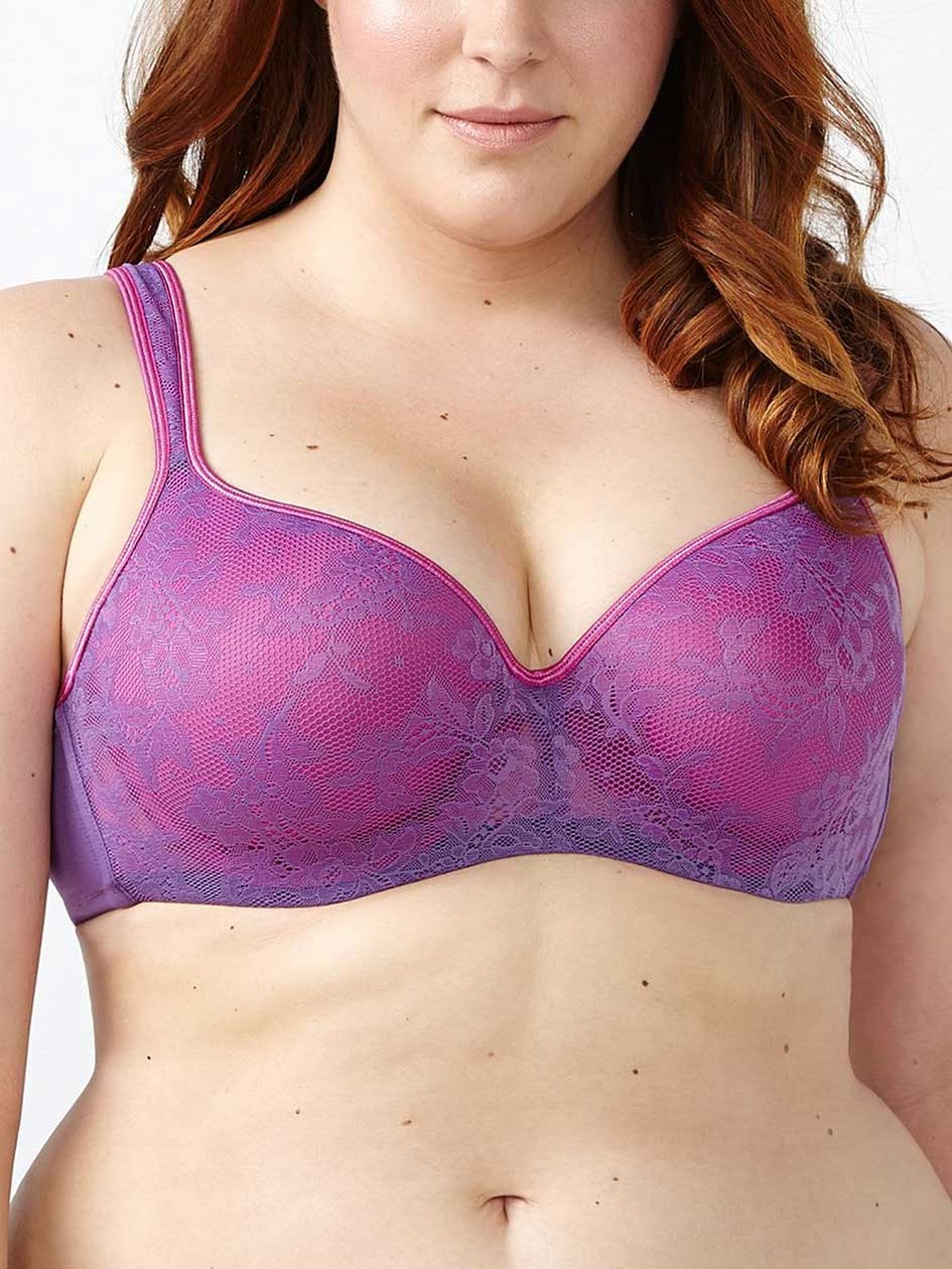 Ti Voglio Padded T-Shirt Bra With Lace Overlay