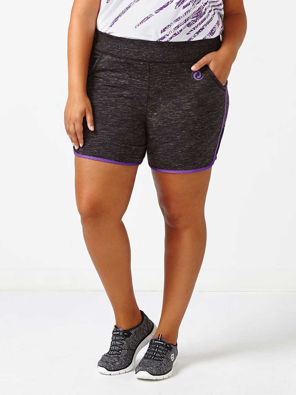 Athleisure - Plus-Size Short with Mesh