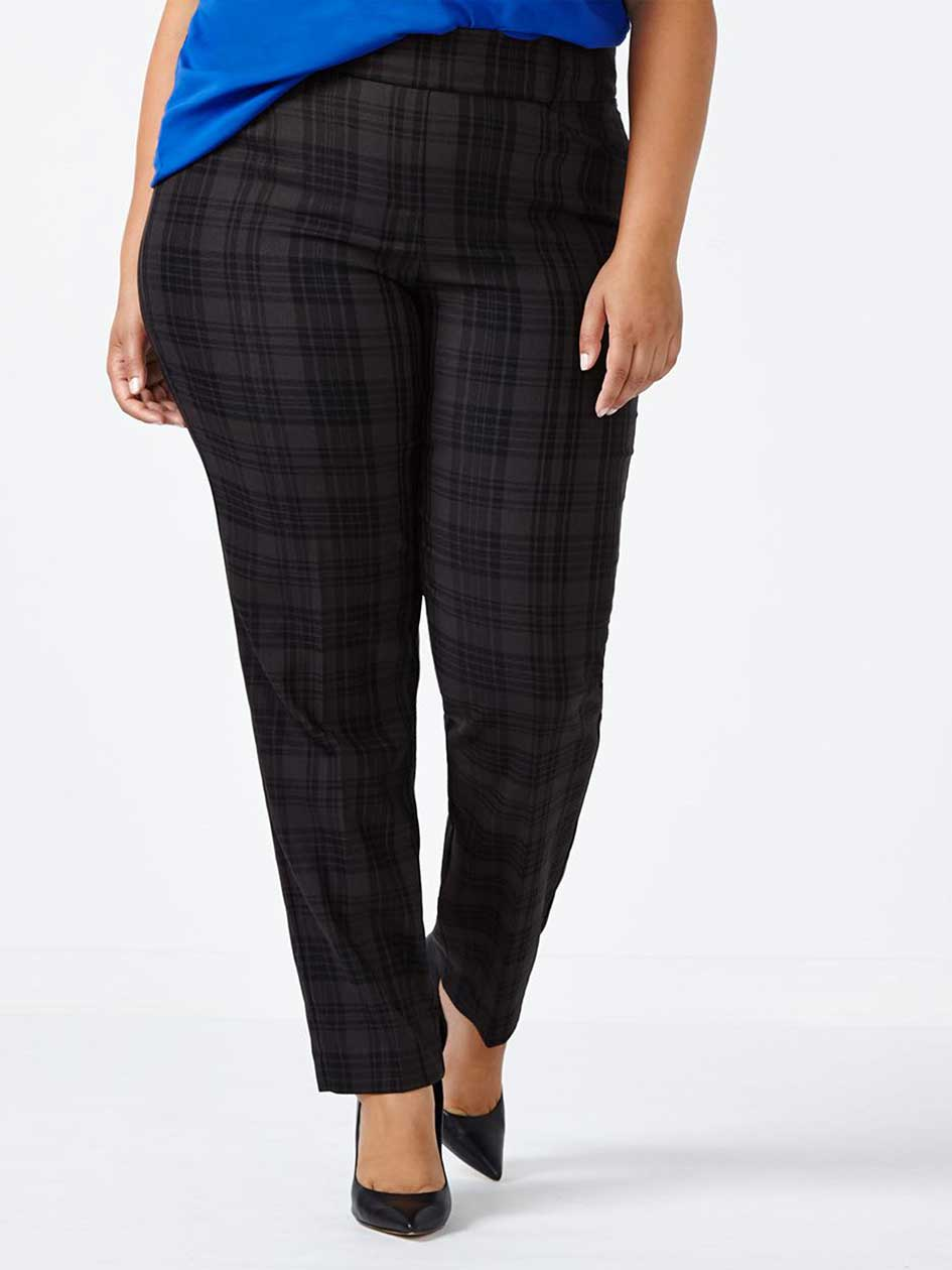 Savvy Soft Touch Straight Leg Plaid Pant