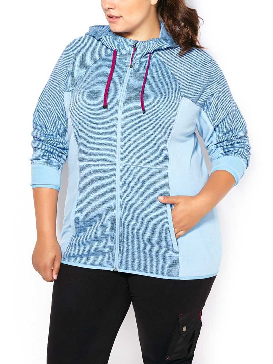 Sports - Plus-Size Fleece Zip Up Hoodie
