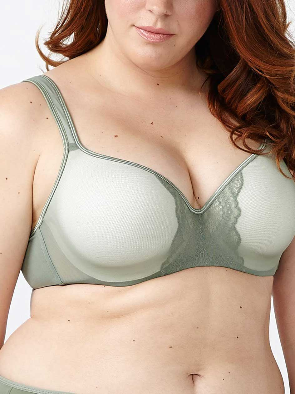 Ti Voglio Padded T-Shirt Bra with Mesh and Lace