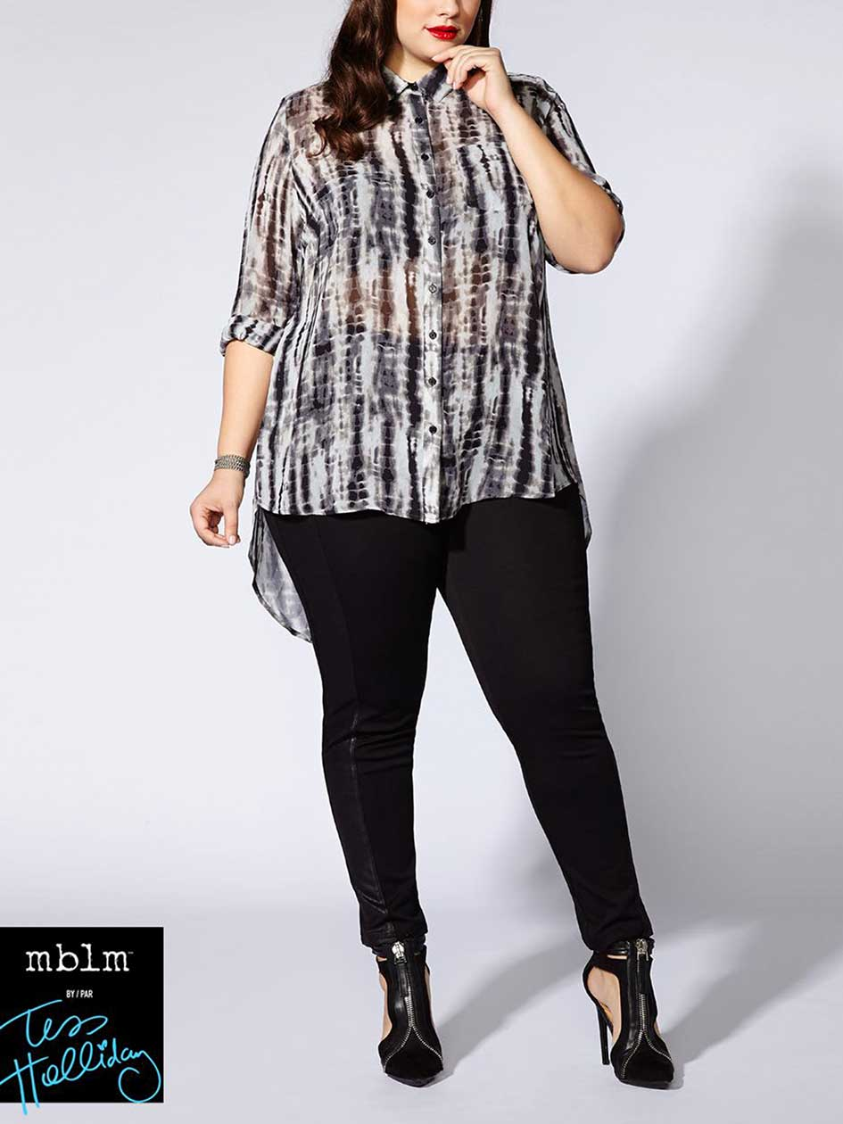 Tess Holliday - Long Sleeve Printed Blouse