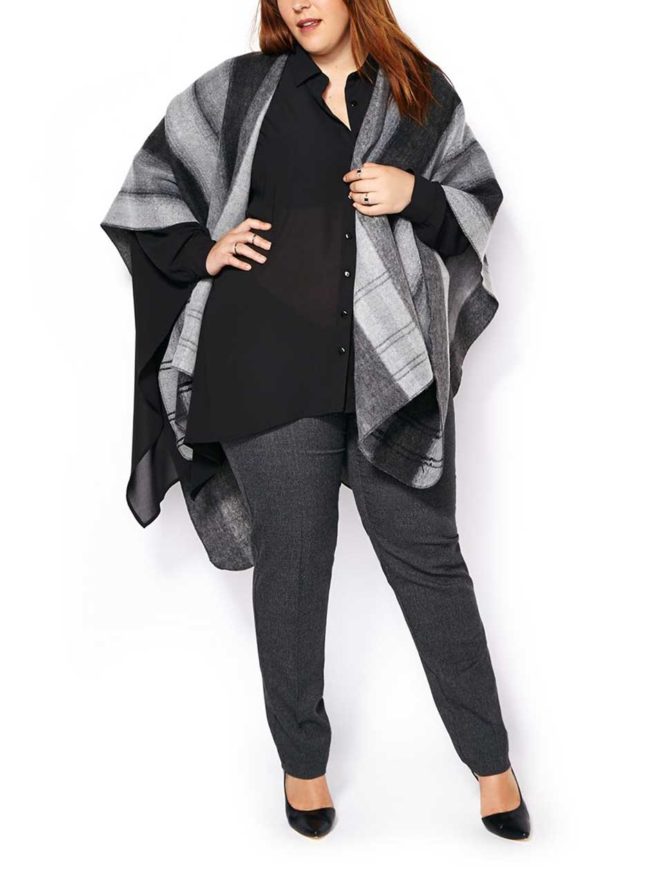 Ombre Patterned Cape