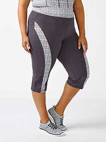 Essentials - Plus-Size Yoga Capri