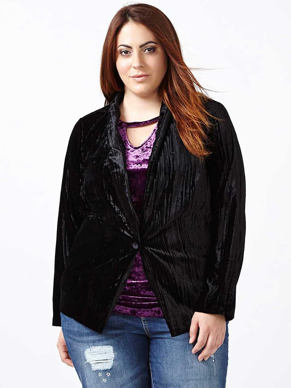 d/c JEANS - Long Sleeve Velvet Jacket