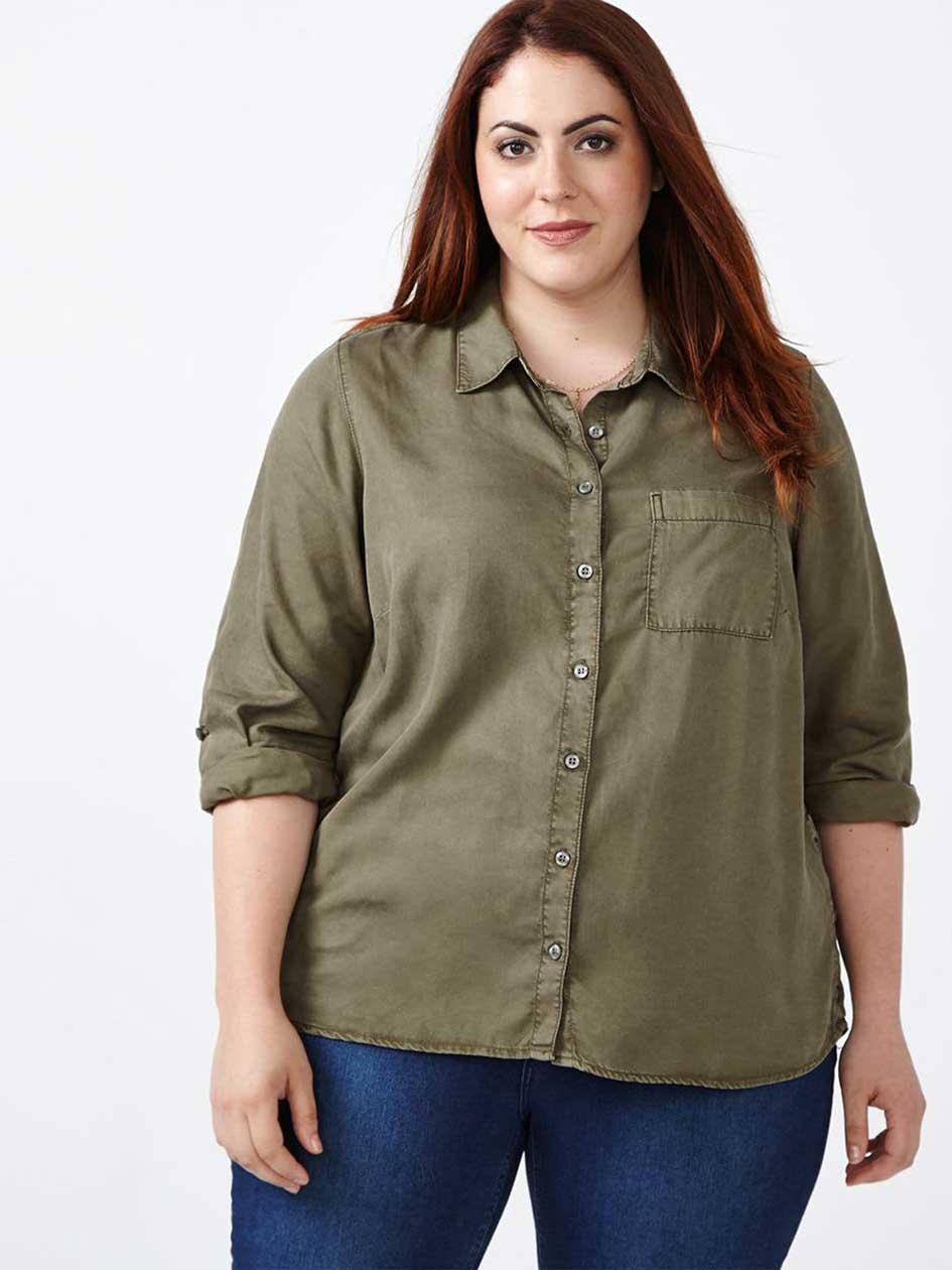 d/c JEANS Long Sleeve Coloured Denim Shirt