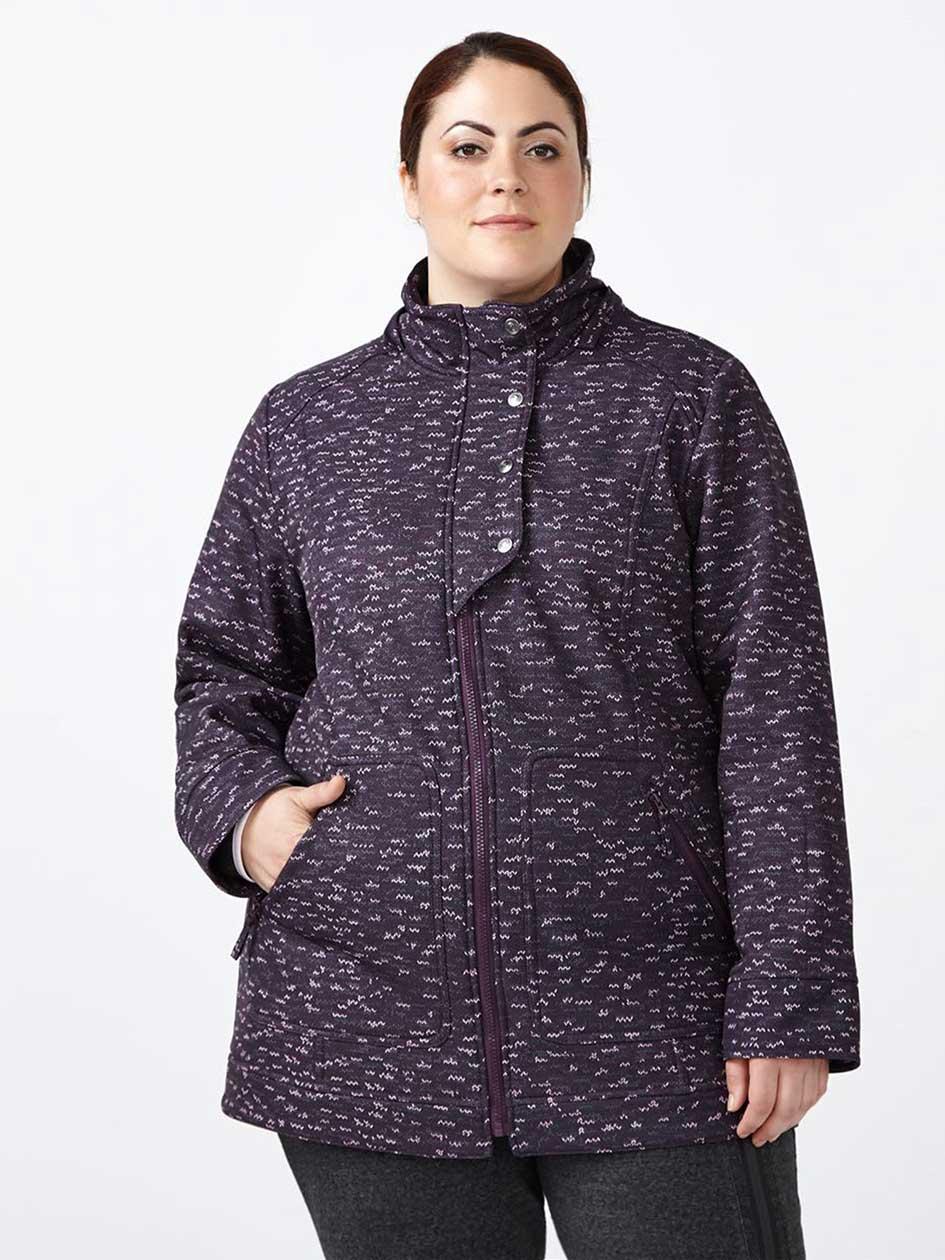 ActiveZone Plus-Size Softshell Hooded Jacket