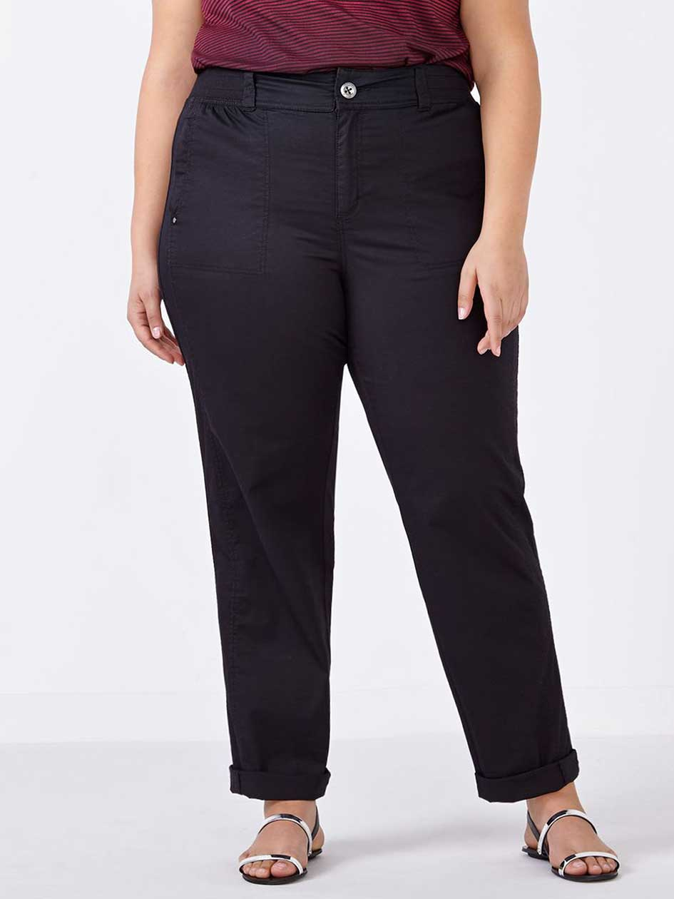d/c JEANS Petite Slightly Curvy Straight Leg Pant