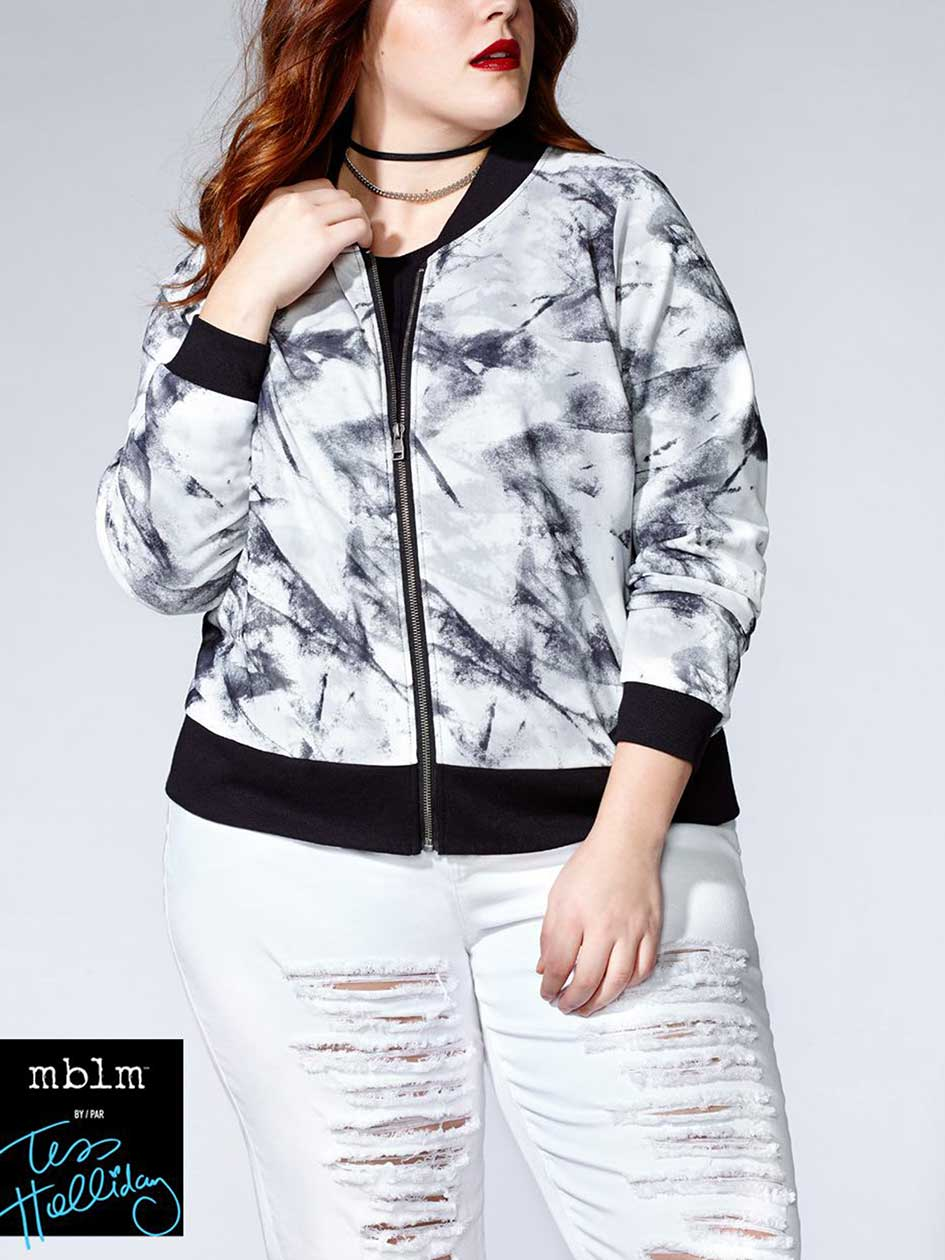 Tess Holliday - Printed Bomber Jacket