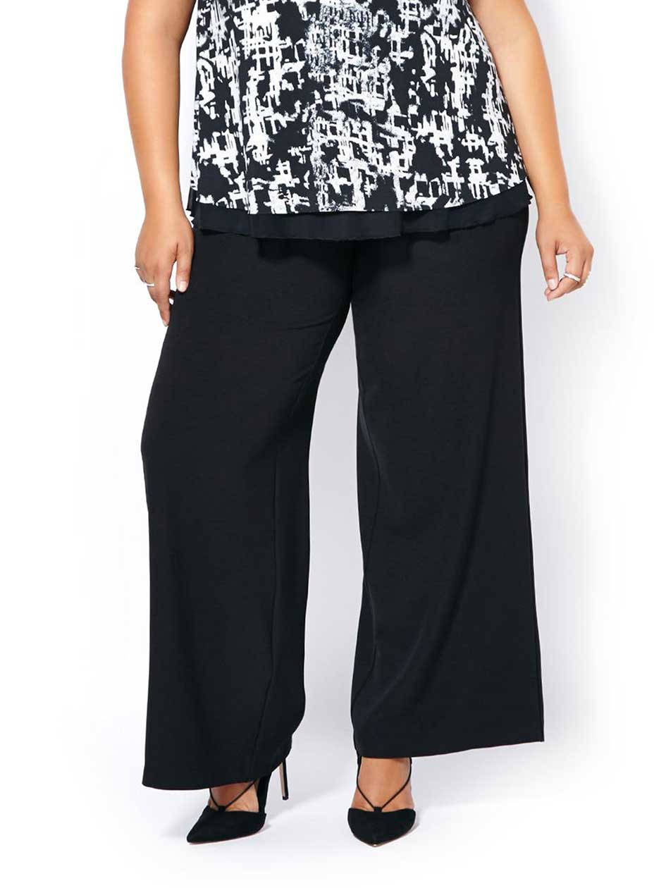 Slightly Curvy Fit Wide Leg Pant