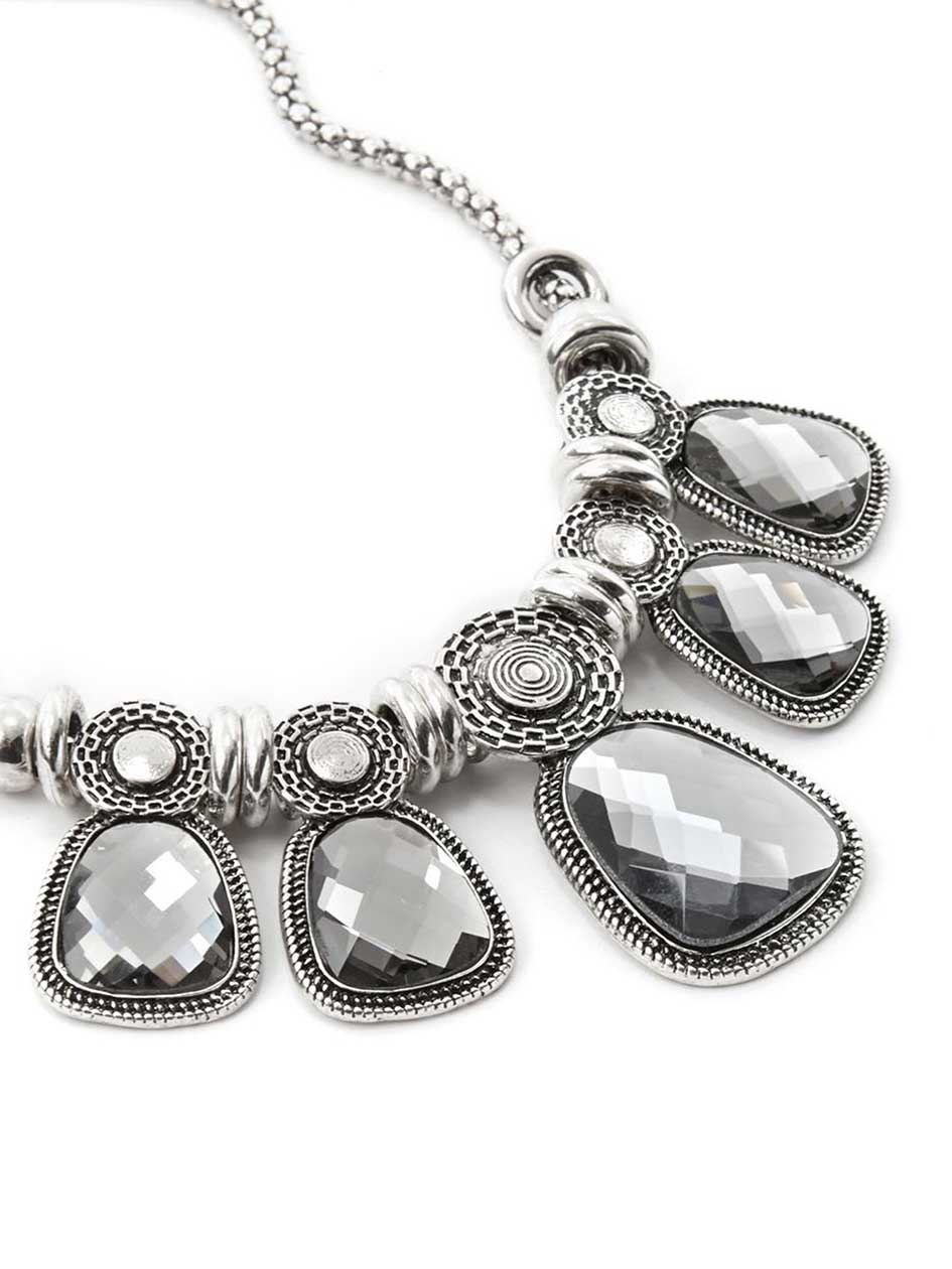 Statement Necklace with Stones