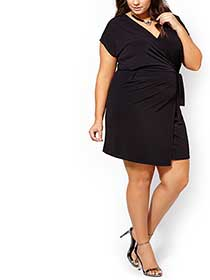 ONLINE ONLY - Short Sleeve Wrap Dress
