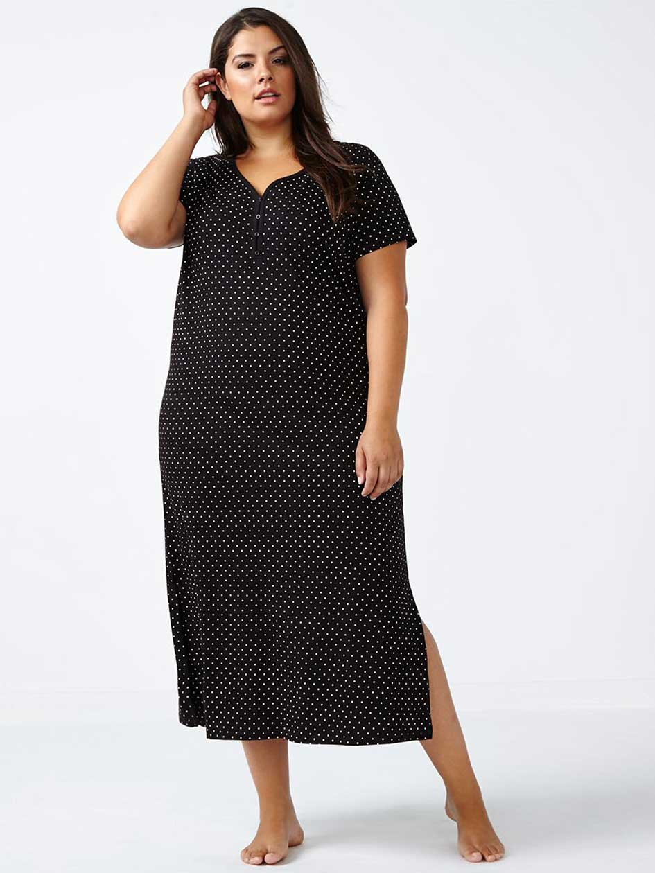 Ti Voglio Long Printed Polka Dot Sleepshirt