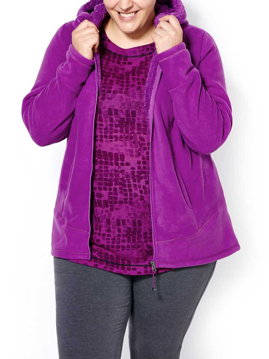 Sports - Plus-Size Fleece Hoodie