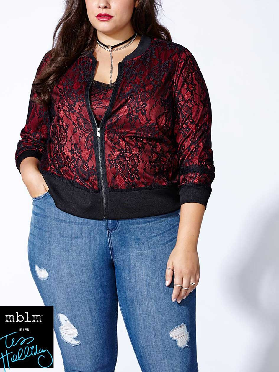 Tess Holliday - Lace Bomber Jacket
