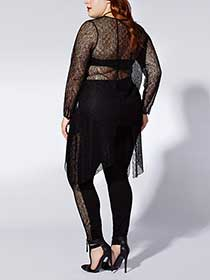 Tess Holliday - Long Sleeve High Low Lace Tunic