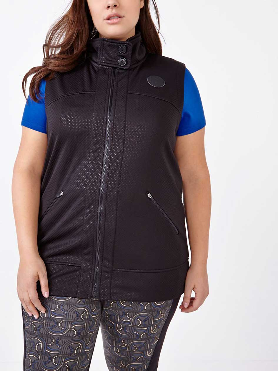 ActiveZone Perforated Mock Neck Vest