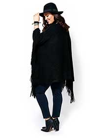 MELISSA McCARTHY Long Sleeve Poncho Sweater