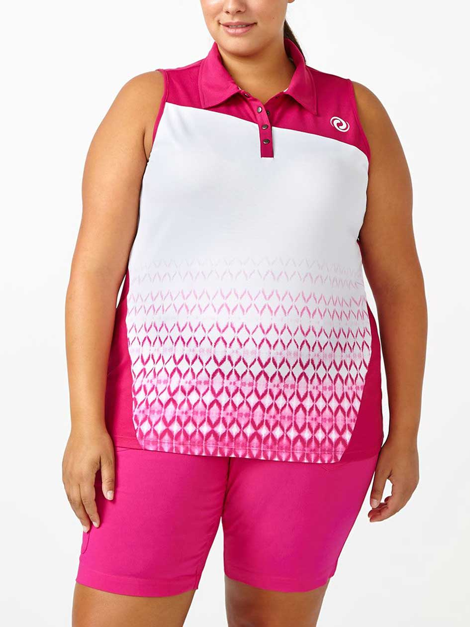 Sports - Plus-Size Sleeveless Golf Top