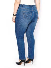 d/c JEANS Petite Slightly Curvy Fit Straight Leg Jean