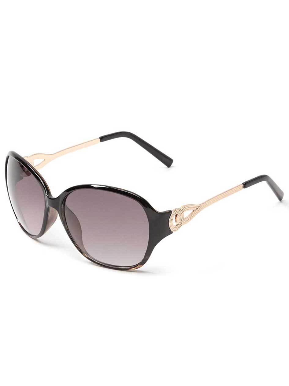 Tortoise Shell Sunglasses with Metal