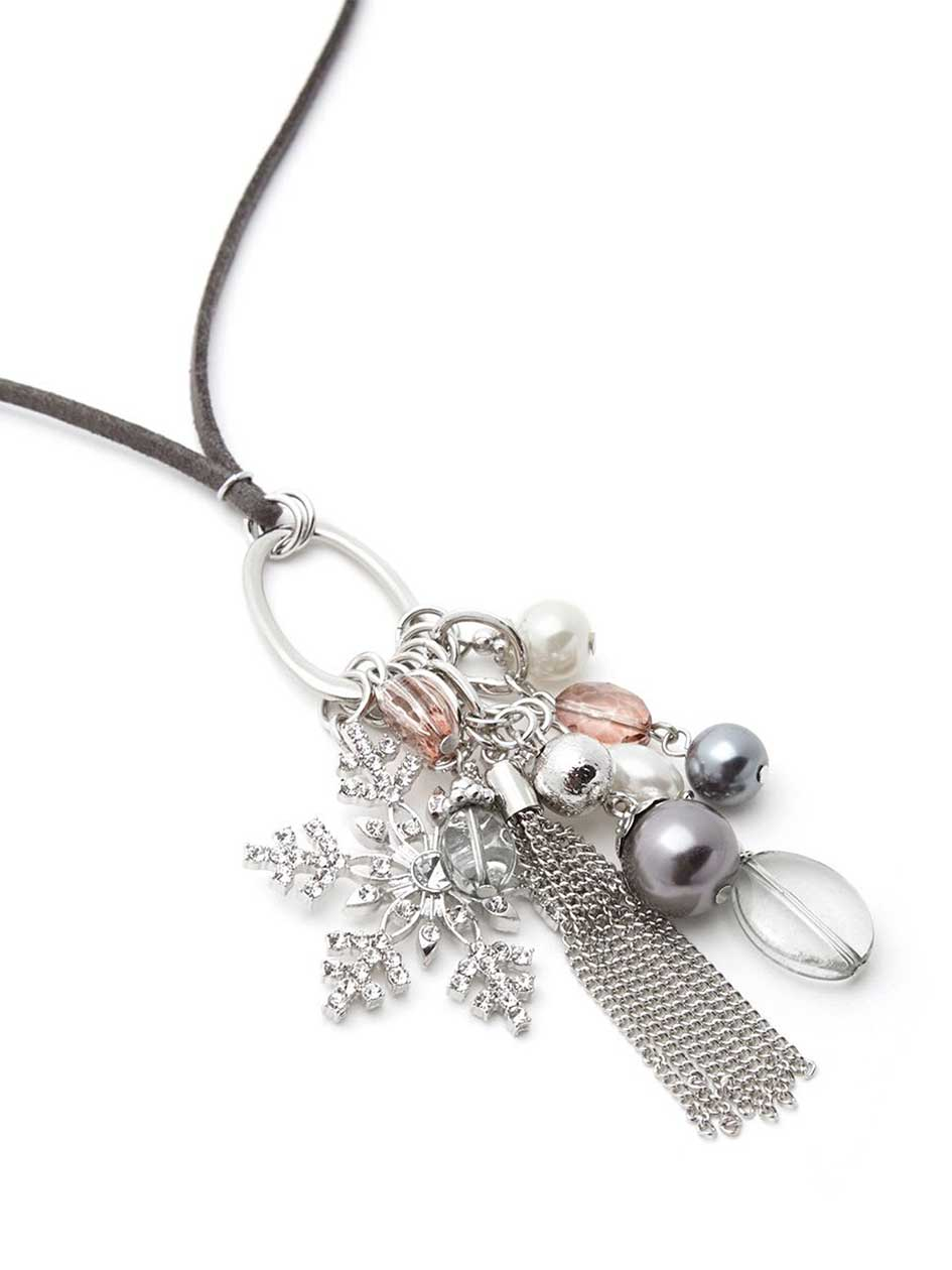 Necklace with Holiday Cluster Pendant