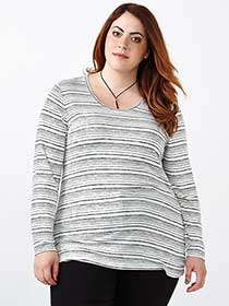 Girlfriend Fit Long Sleeve Striped T-Shirt