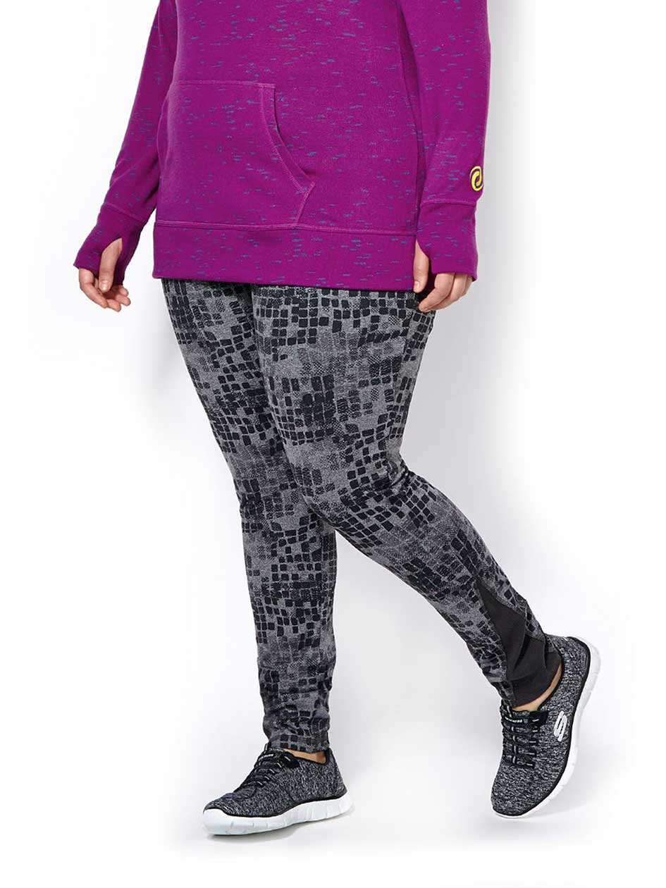 Sports - Plus-Size Printed Legging