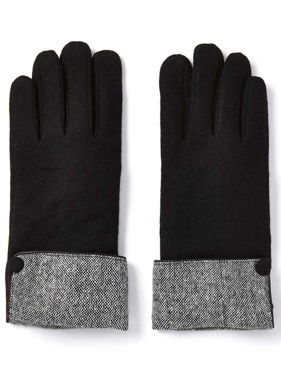 Touch Screen Friendly Gloves with Patterned Cuffs