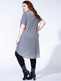 mblm - Short Sleeve Tunic with Front Knot