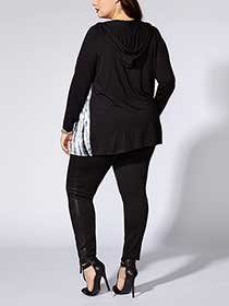 Tess Holliday - Hooded Printed Cardigan
