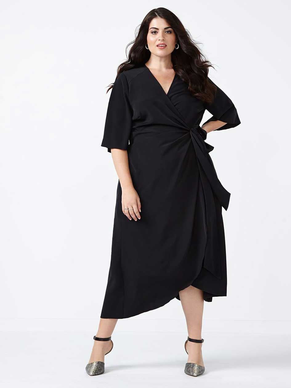 MELISSA McCARTHY Wrap Dress