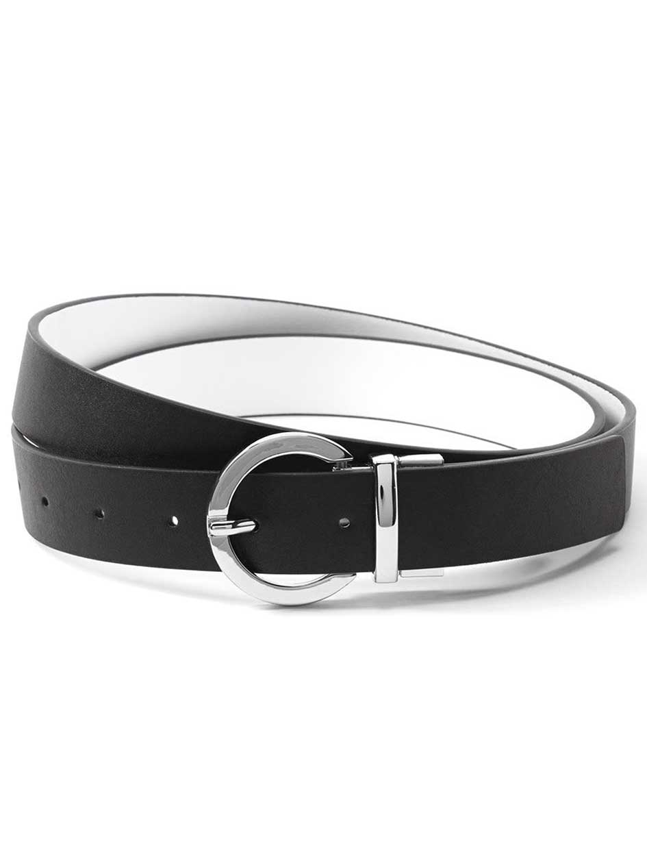 Reversible Faux-Leather Belt