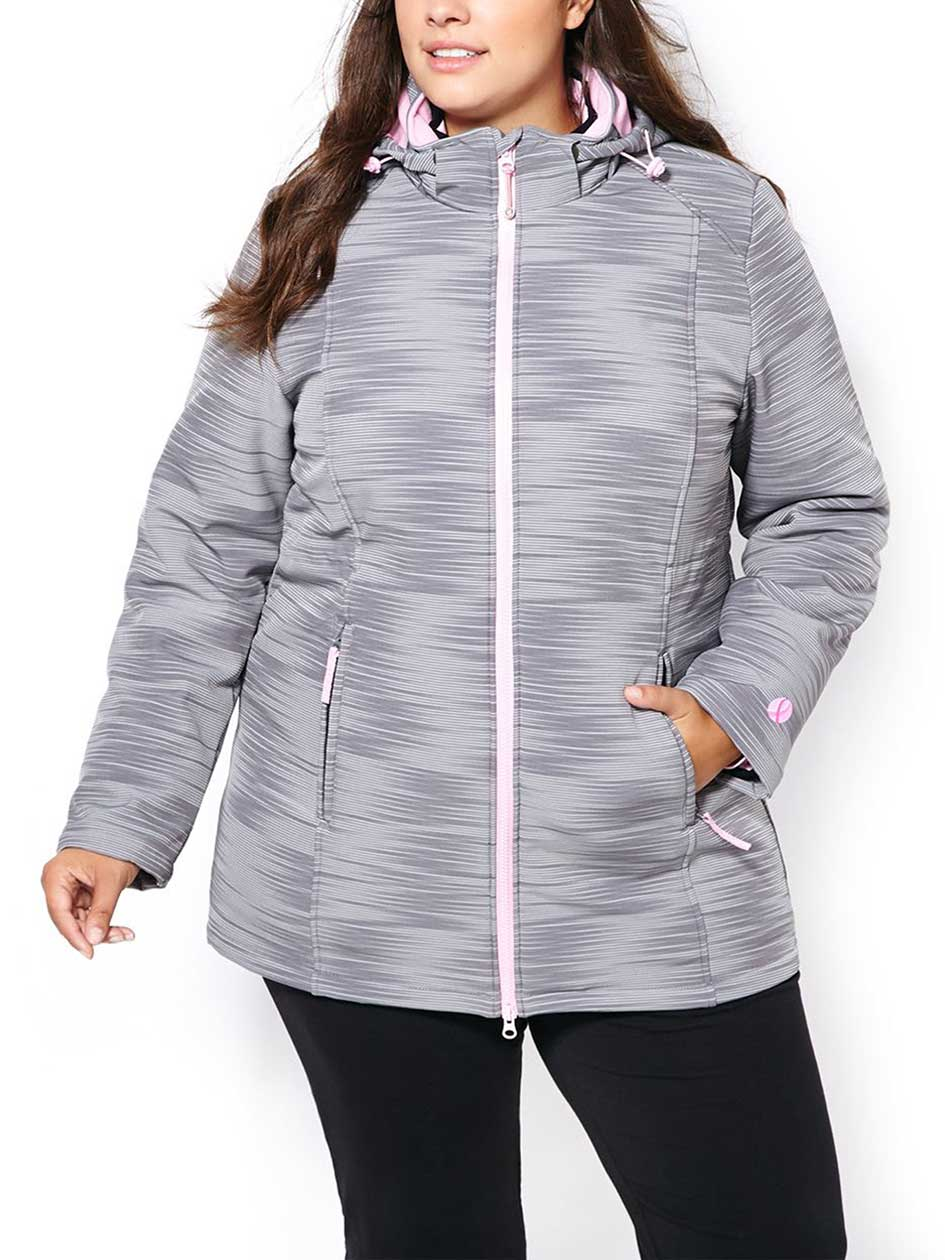 ActiveZone Plus-Size 4-in-1 Packable Coat