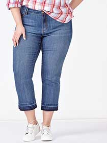 d/c JEANS Slightly Curvy Fit Denim Capri