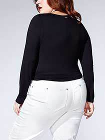Tess Holliday - Long Sleeve Crossover Top