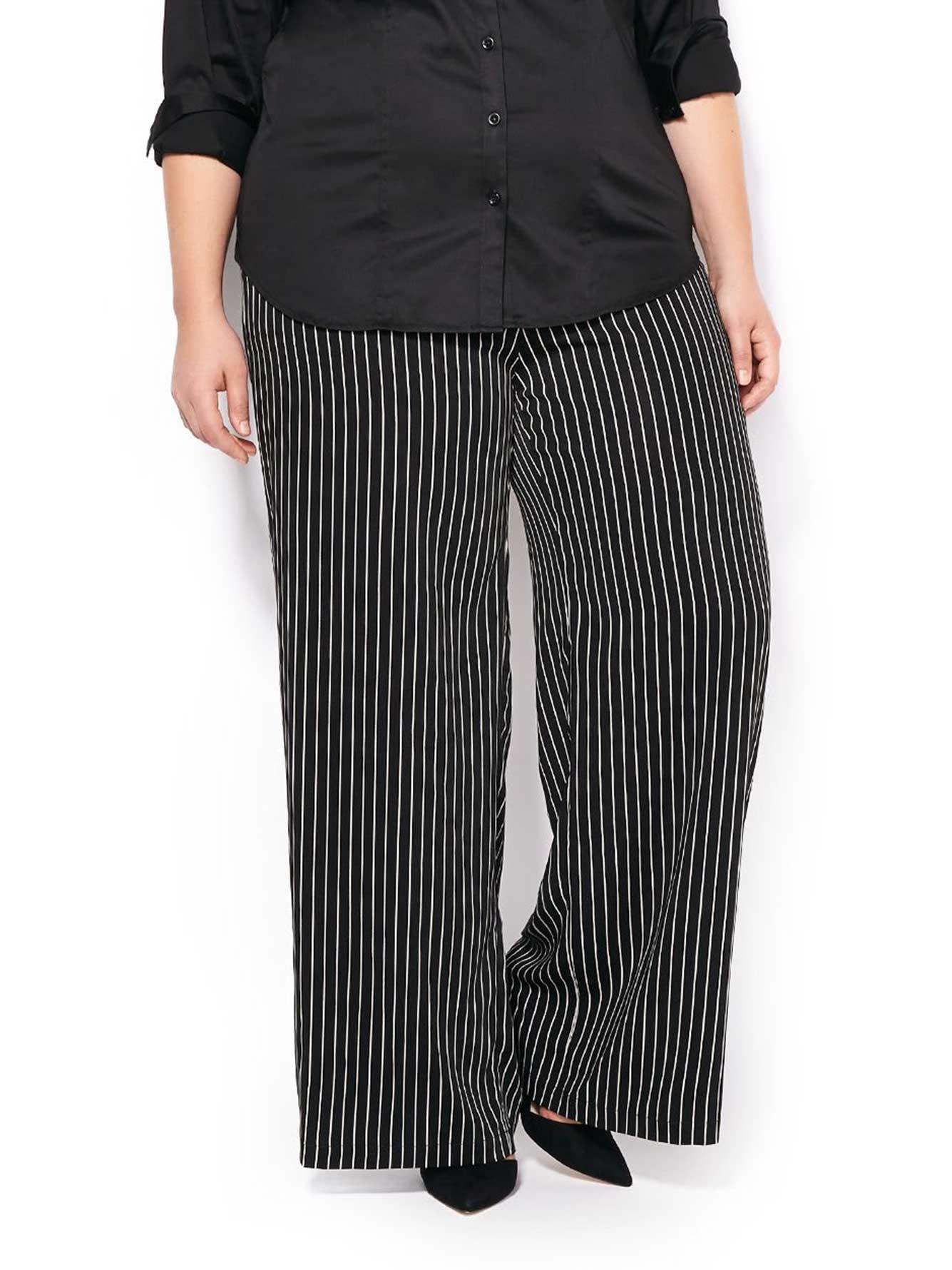 pantalon ray jambe large coupe l g rement galb e penningtons. Black Bedroom Furniture Sets. Home Design Ideas