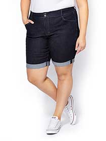 d/c JEANS Slightly Curvy Fit Denim Bermuda Short