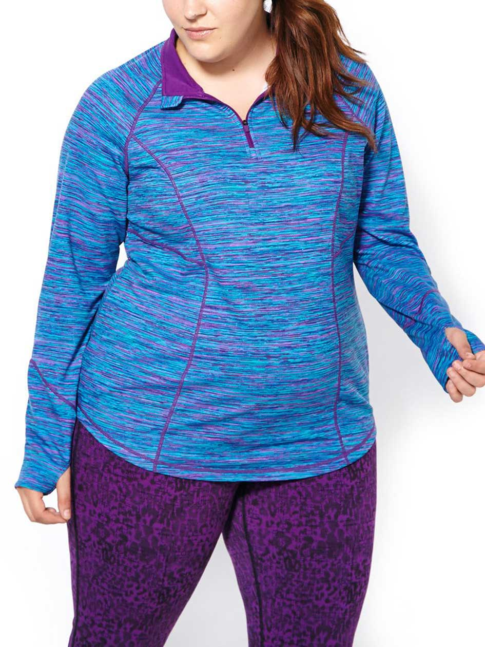 Essentials - Long Sleeve Plus-Size Pullover