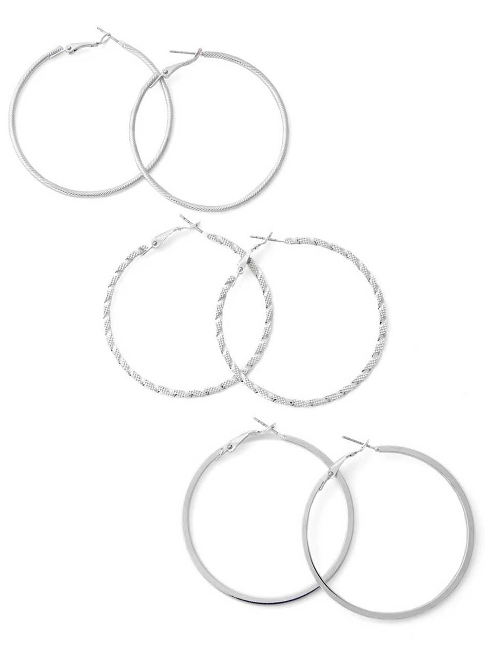 3 Pairs of Hoop Earrings