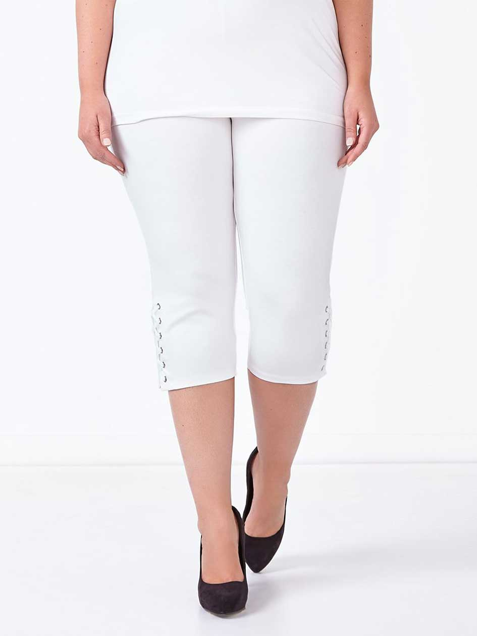 Capri Legging with Lace Up Detail