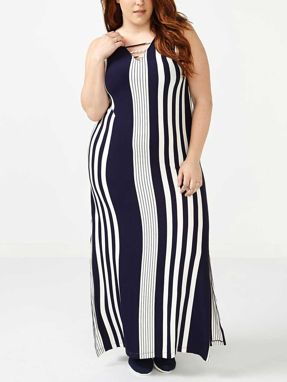 ONLINE ONLY Striped Maxi Dress