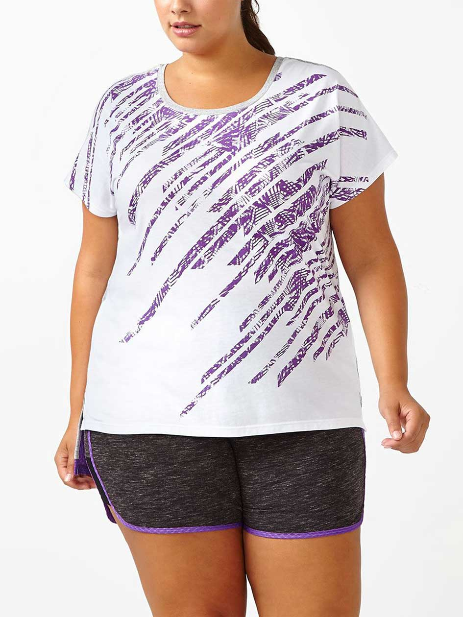 Athleisure - Plus-Size Printed T-Shirt