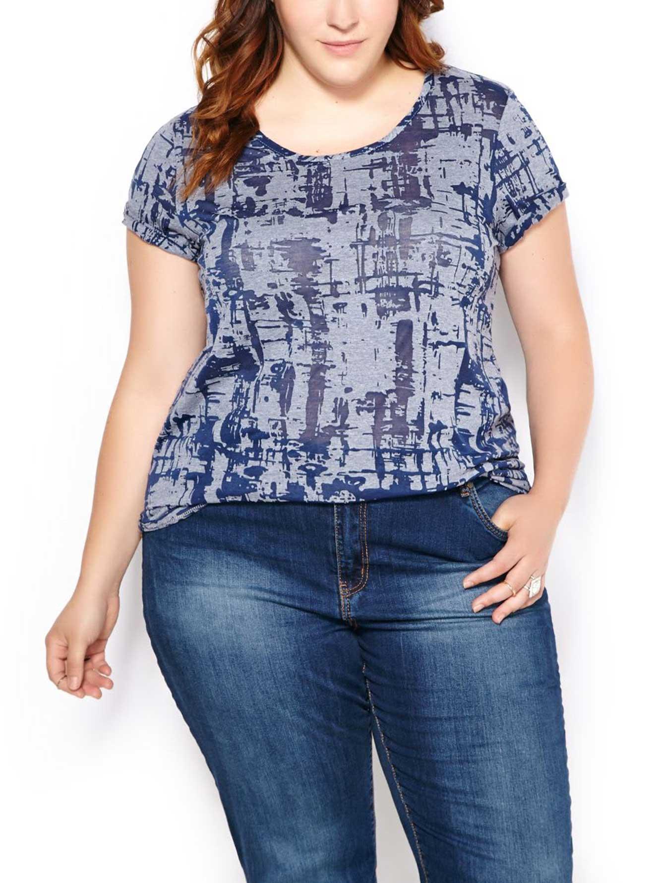 Form Fit Burnout Print T Shirt Penningtons